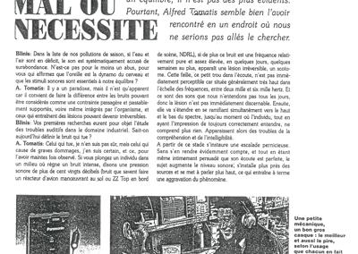 Blinis Le Bruit, mal ou nécessité – mai 1990