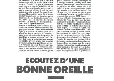 """Cosmopolitain """"Ecoutez d'une bonne oreille"""" – 1990"""